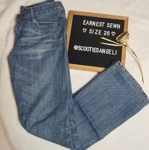 Earnest Sewn | Milk Blue Bootcut Jean
